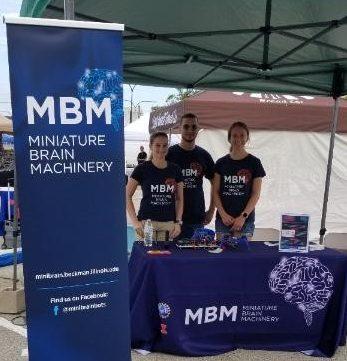 Karla Ramos-Cruz, Jorge Maldonado De-Jesus, and Lauren Grant at the MBM booth