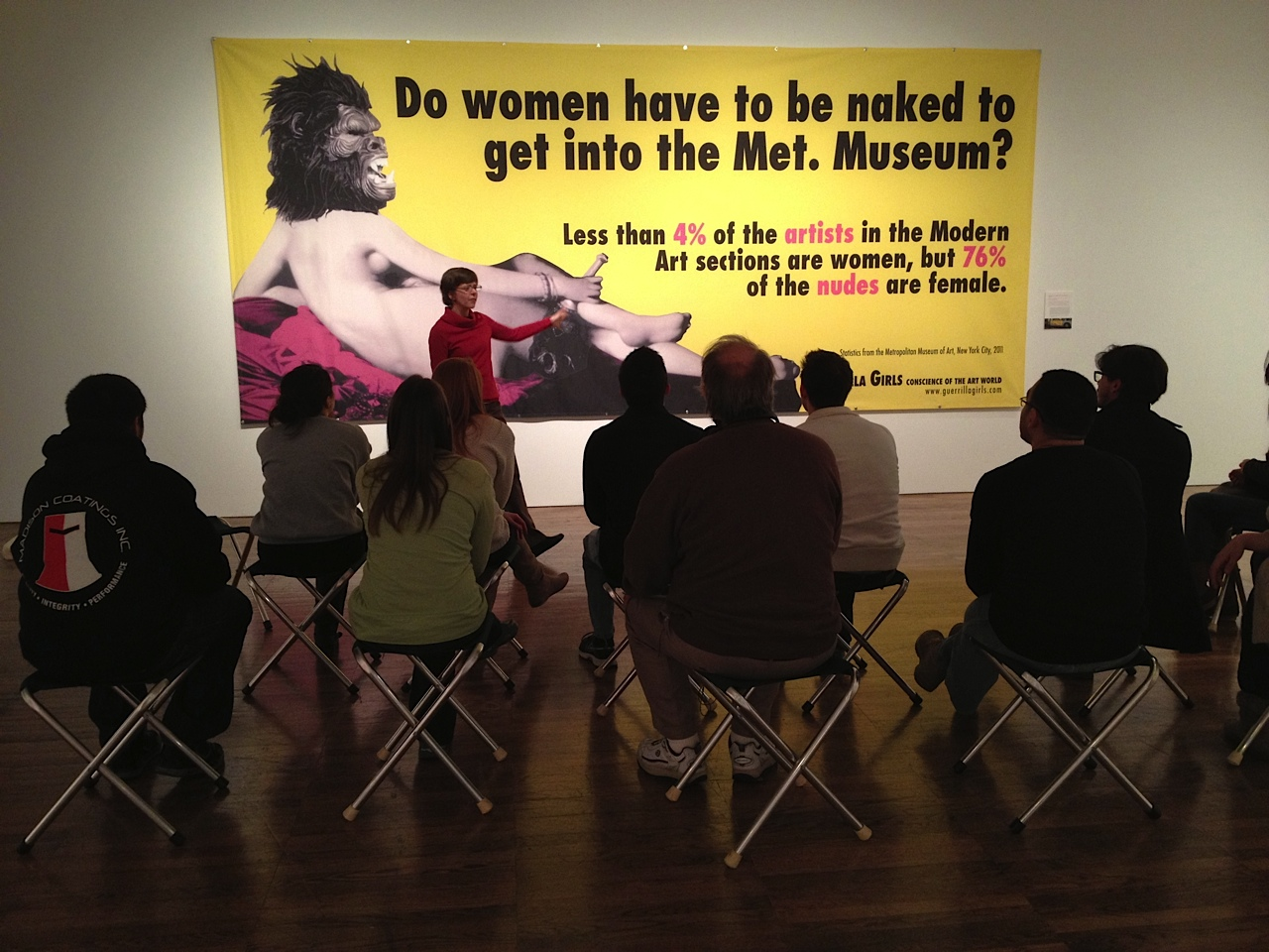 artworks guerrilla girls women have naked into museum