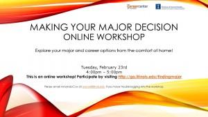 Making your major decision Online workshop