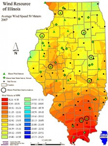 Figure 34: General wind trends within Illinois.