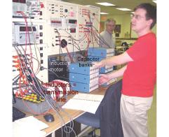 Figure 16 Bench 5. Foreground: Matt Davis. Background:Professor Krein