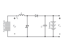Figure 22 Fuel cell hybrid system including boost converter.