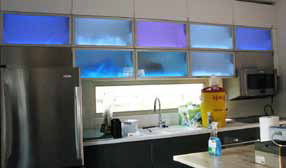 Figure 9: Kitchen cabinets with LEDs.