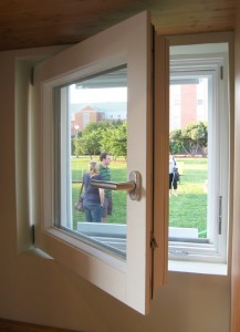 Figure 14: Triple-pane window in highly insulated wall.