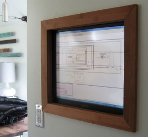 Figure 16:Touch-screen computer for monitoring and control of the home automation system.