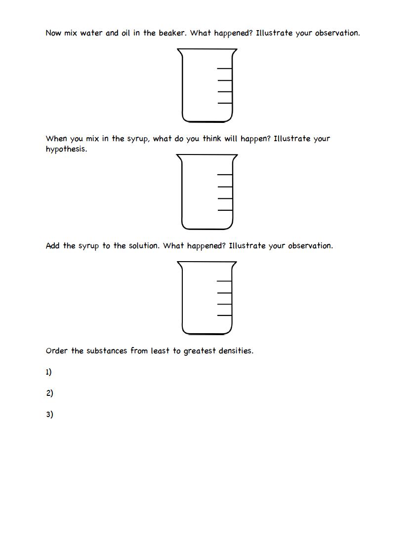 Density Lesson Cena y Ciencias – Buoyancy Worksheet