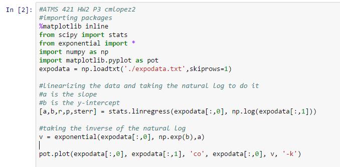Christina's Blog » Homework 2! Exponential Models!
