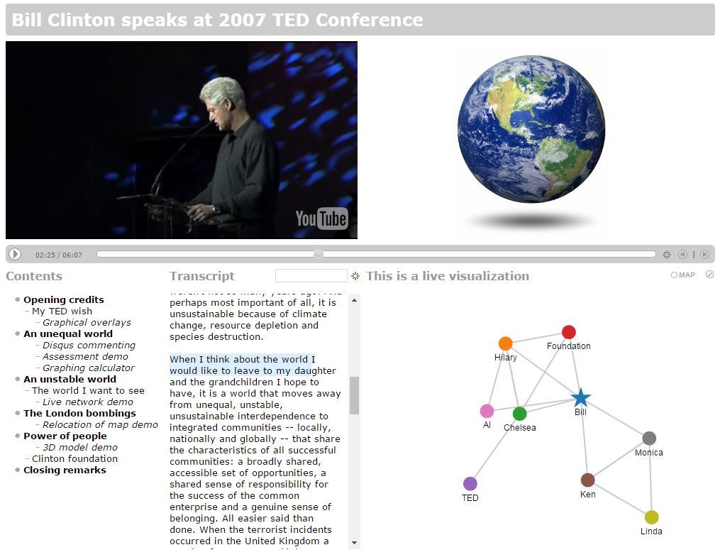 A screenshot of QMedia's demo video.