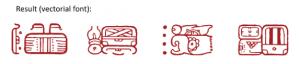 Mayan hieroglyphs as a computer font