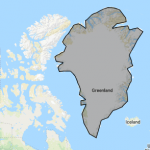 Area of Greenland made in MyMaps