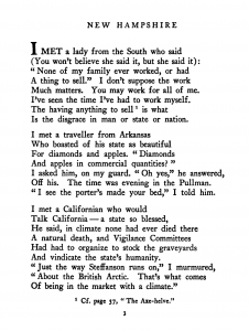 "An image of a portion of Robert Frost's poem ""New Hampshire"""