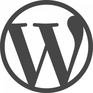 Wordpress logo - a gray W in a circle