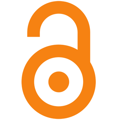 open access logo. orange open padlock