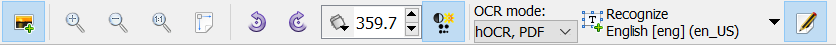 gImageReader Toolbar
