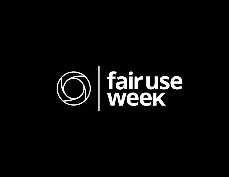 Fair Use week in white text on black background