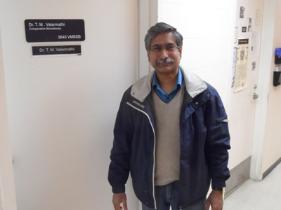 Dr. T.M. Valarmathi in front of office