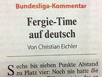 Fergie Time auf Deutsch