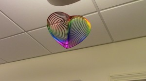 The symbol of equality for love-hanging proudly at the LGBT Resource Center