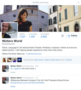 Wolters' Twitter page