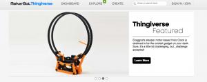 Thingiverse Homepage