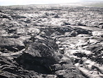 Vast field of shiny black rock