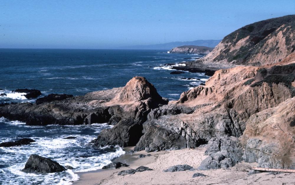 Sand, rocks, sea & sky