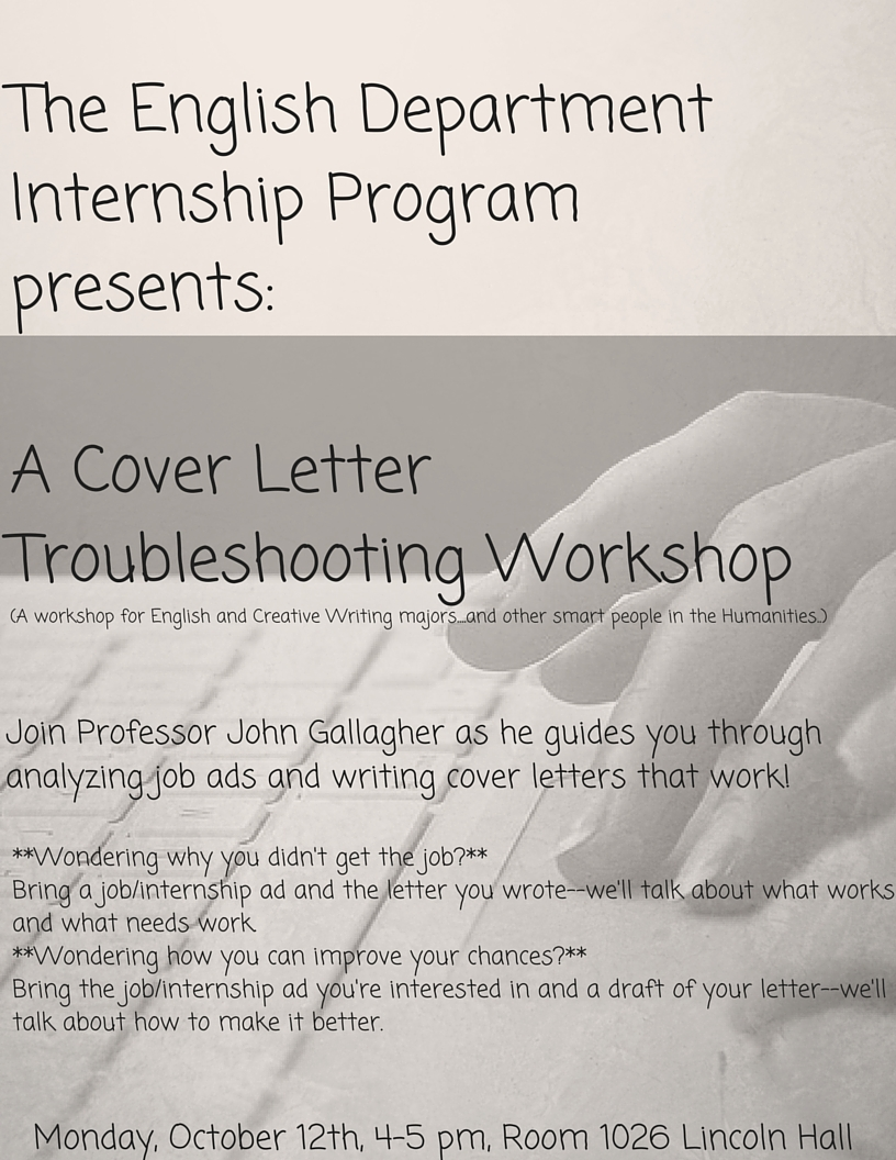 Cover Letter Workshop