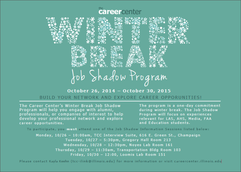 Winter Break Job Shadow