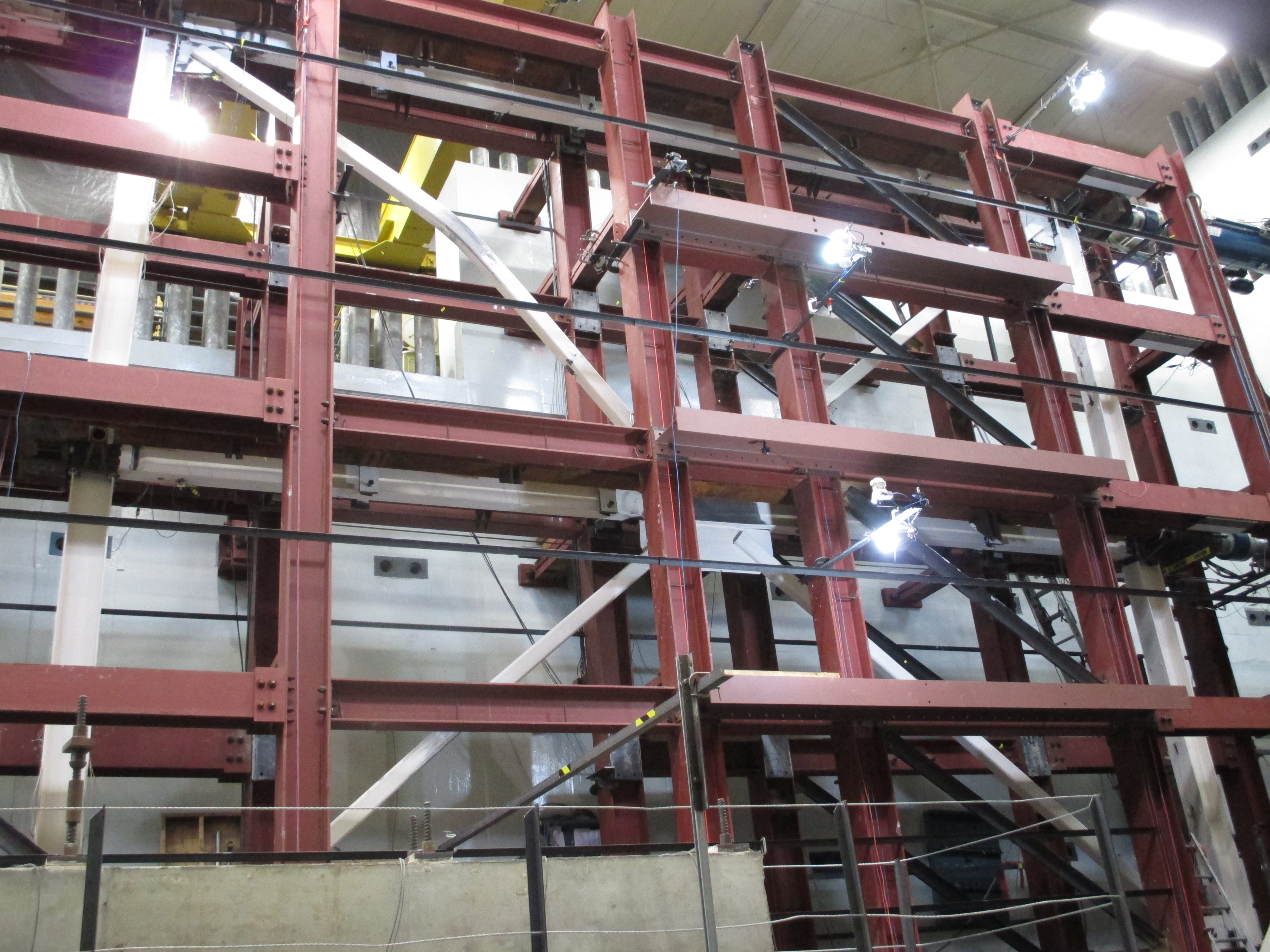 Braced Frame Tests Completed | Fahnestock Research Group ...