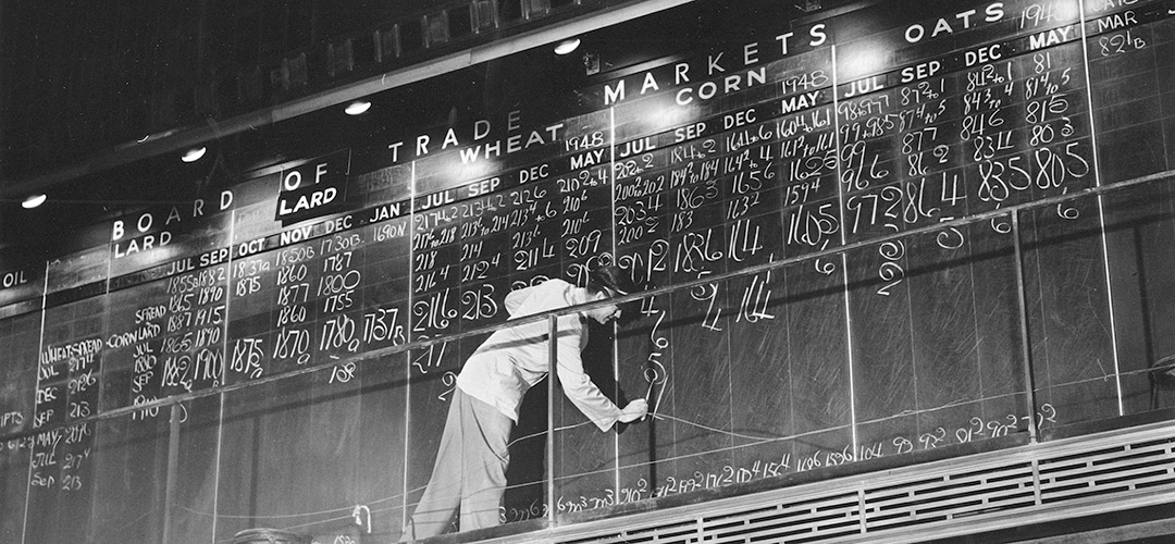 photo of market board courtesy of the Chicago History Museum