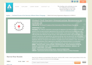 A screenshot of our Civil Society Responses web archive.