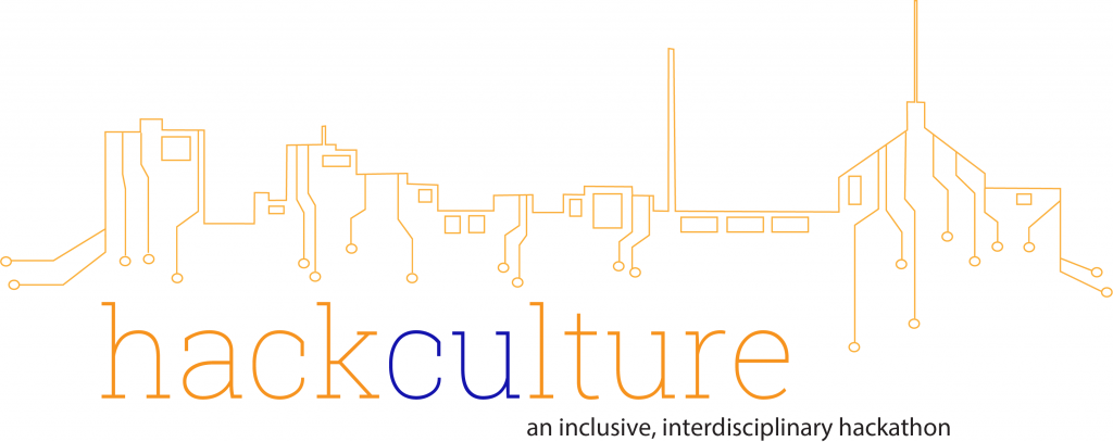 HackCulture logo with Champaign skyline outline