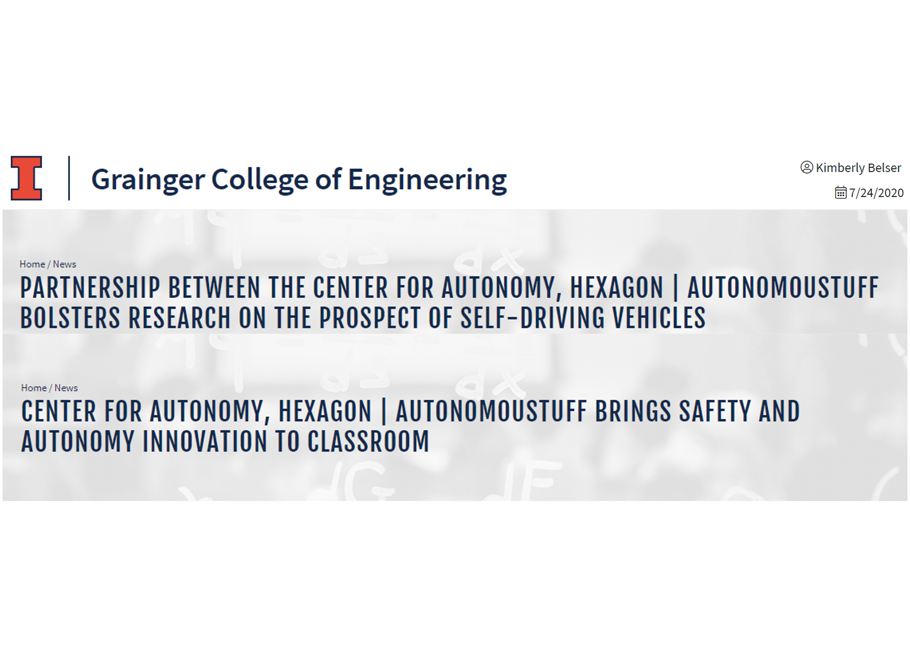 Collaboration with Hexagon | AutonomouStuff brings big changes to the classroom and research.