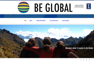 An image of the Be Global homepage.