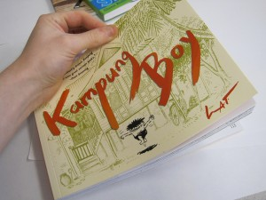 Kampung Boy by Lat tells of a child growing up as a Muslim in a fishing village in Malaysia. Photo Credit: First Second Books