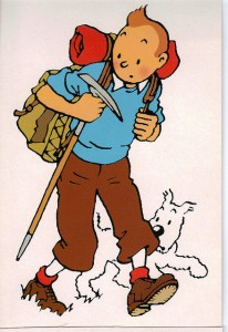International detective Tintin and his dog, Milou, are off on a new adventure. This work, by Hergé, was originally published in French and started its road to fame in 1929. Photo Credit: normandy14
