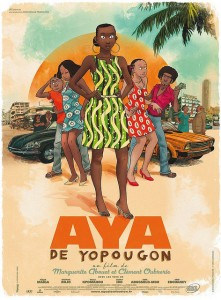 A poster advertising a film adaptation of Marguerite Abouet's Aya series. Photo Credit: LaCinemateca Sevilla