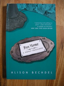Alison Bechdel's autobiographical graphic novel Fun Home. Bechdel's publications consistently engage LGBT issues and have garnered her a MacArthur Genius Grant. Photo Credit: carmen_seaby