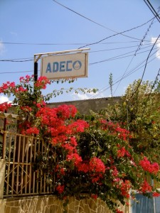 Picture of the ADEC sign in Marcala, Honduras - from a previous trip, posted on http://hwpillinois.weebly.com/