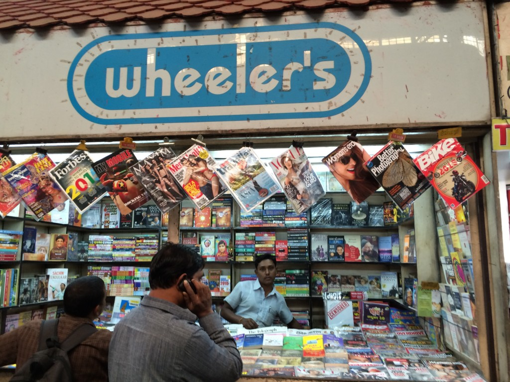 Book seller at Howrah Junction train station in Kolkata