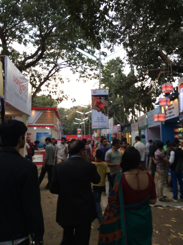 The crowd at the very popular Ekushey Boi Mela book fair in Dhaka, Bangladesh.
