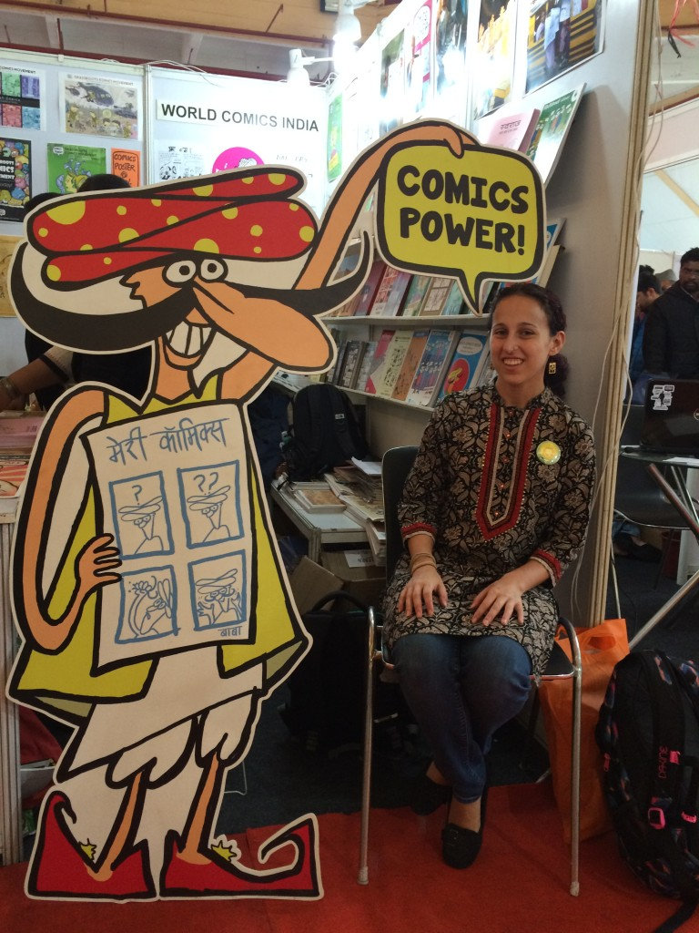 World Comics India booth at the book fair in New Delhi