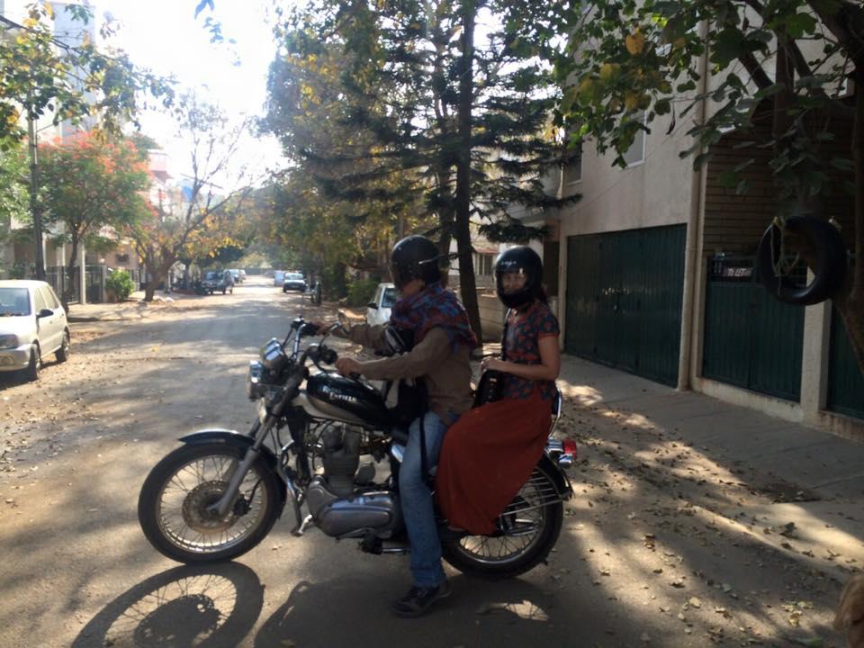 Vintrage Royal Enfield motorcycle.