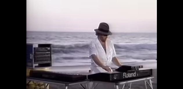 Harold Faltermeyer on the beach, 1985