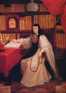 A drawing of Sor Juana Inés de la Cruz. Image Source: Wikipedia