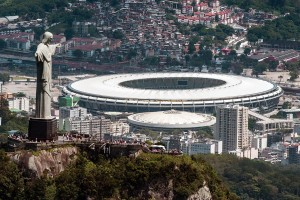 Photo credit: Aerial view of the Christ the Redeemer statue atop Corcovado Hill and the Mario Filho (Maracana) stadium in Rio de Janeiro, Brazil, on December 3, 2013. AFP - Getty Images file. NBC News