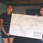 Two architecture students, Jesse Han and Vicky Su, created a hand drawn map to leave with the community.        -- Photo Credit: Jesse Han