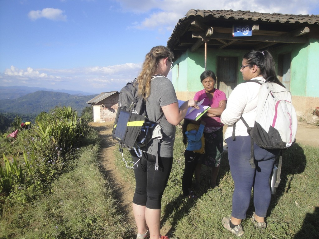 The Social team conducting household surveys in the community. photo credit: Keilin Jahnke