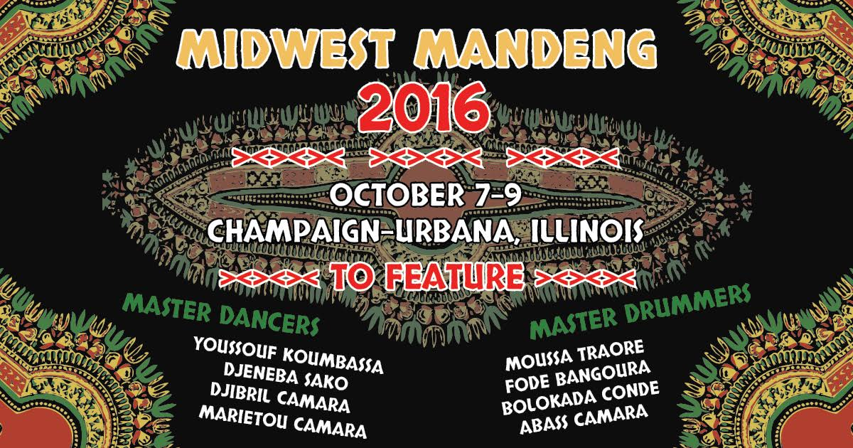 Image of the flyer advertising Midwest Mandeng 2016.