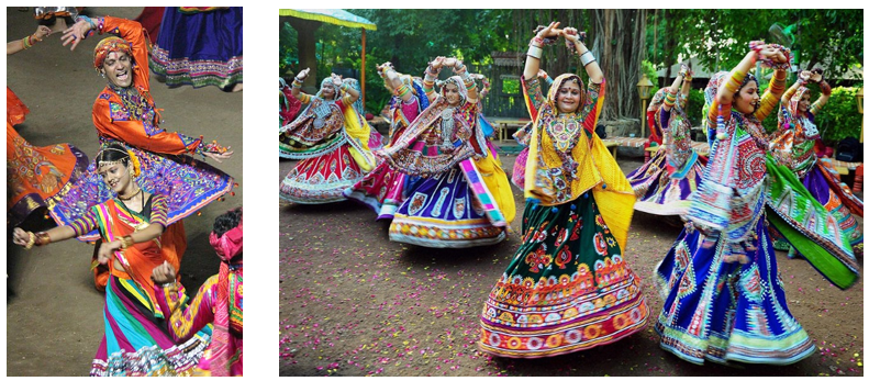 Dancers performing Garba in Gujarat